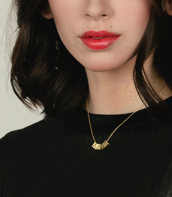 24k Gold Plated MAMA Necklace