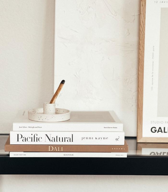 Palo Santo Holder - White