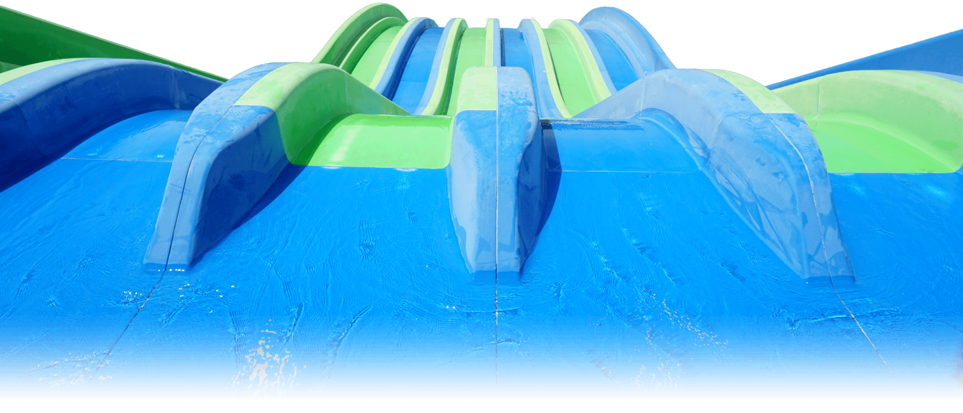 blue and green waterslide