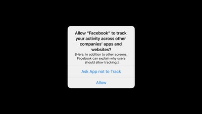 Facebook Privacy Prompt i OS