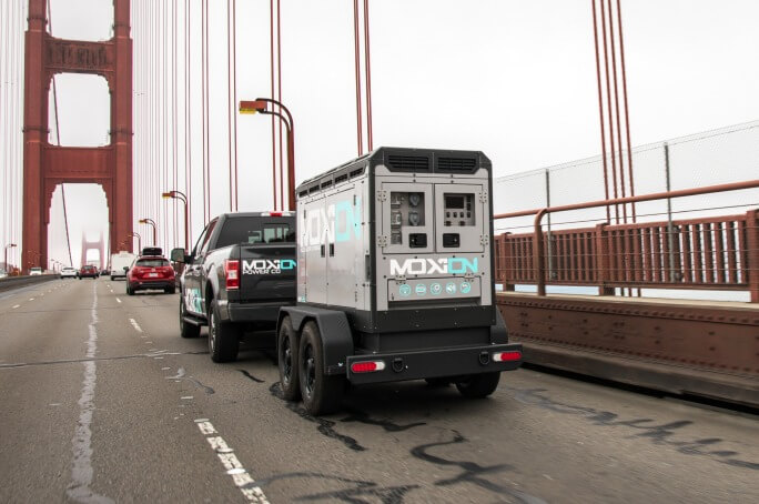 Moxion Temporary Power on a bridge