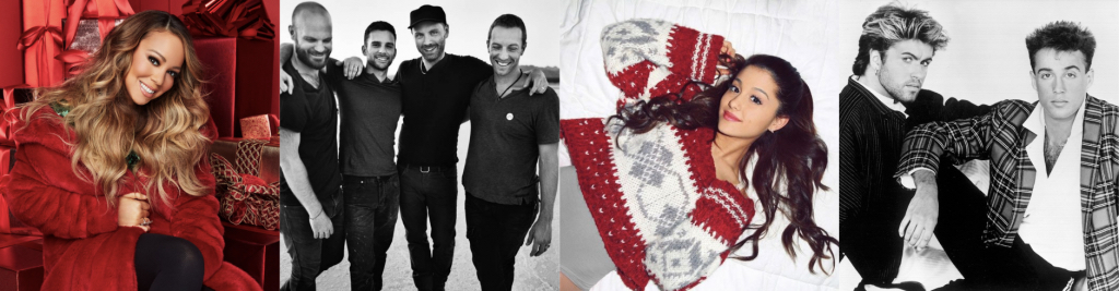 Christmas article by WARM - banner|Mariah-Carey|Coldplay|Wham|Ariana-Grande|Dresden, Germany - 9.12.2018: People visit Christmas Market Striezelmarkt in Dresden, Germany|Mariah-Carey-1|Coldplay-1