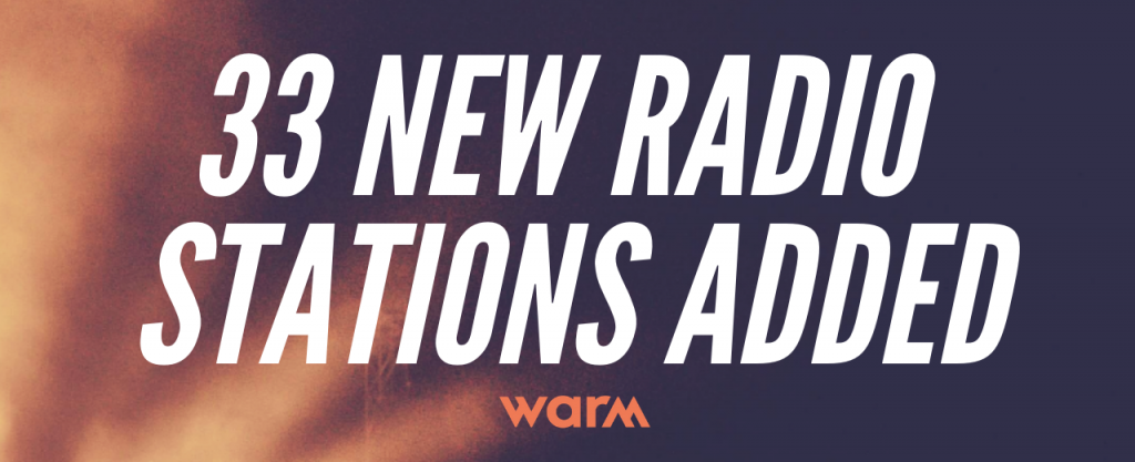 new radio stations(1) warm