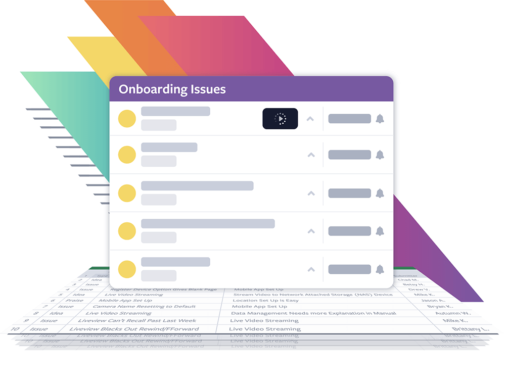 A screenshot listing tester onboarding issues