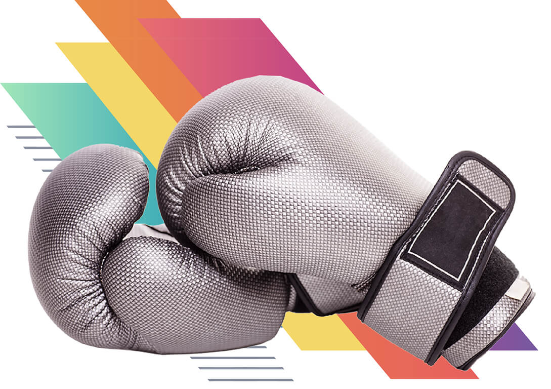 Photo of silver boxing gloves