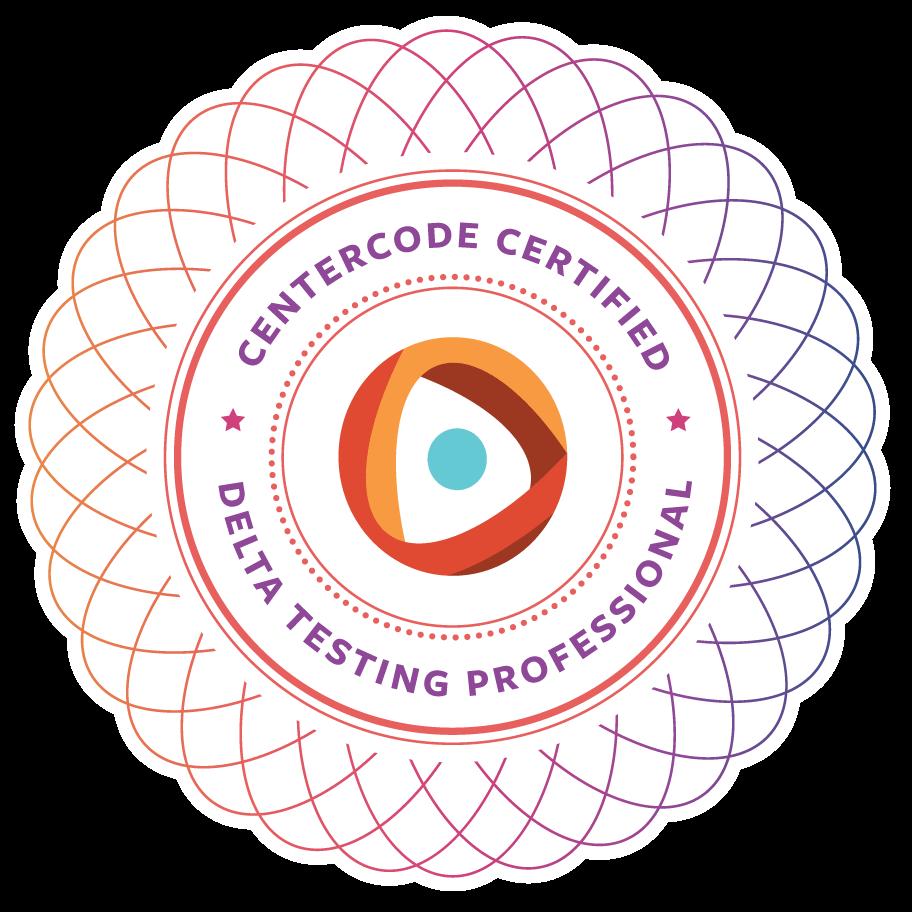 Centercode Delta Testing Certification seal