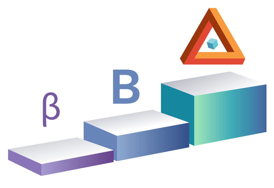Illustration showing the evolution of Beta Testing to Delta Testing