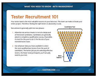 Tester Recruitment 101