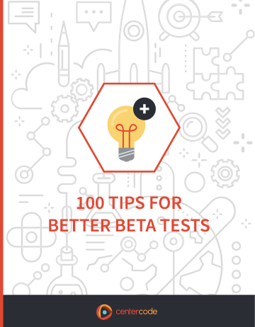 Cover Image: 100 Tips for Better Beta Tests