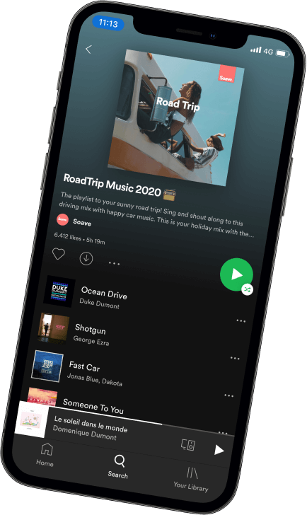 iPhone spotify