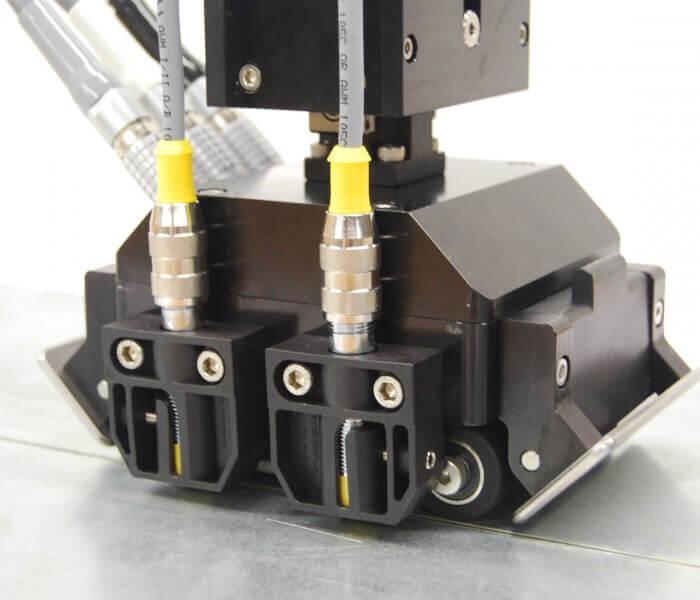Detail of the sensor for tailor welded blanks inspection