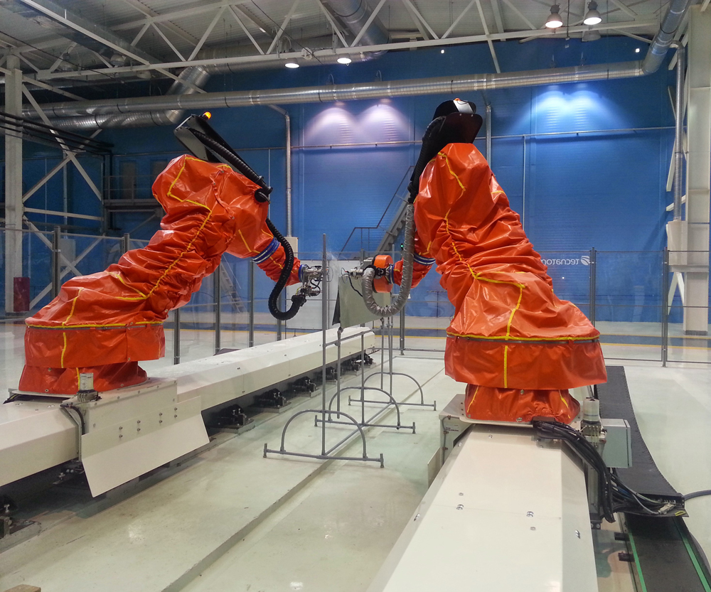 Automated robotic systems designed for composites inspection