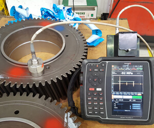 Performing residual stress measurement with the portable instrument called Innerspec POWERBOX H