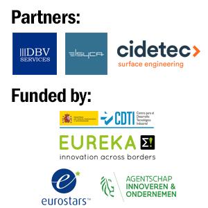 Logos of: DBV Services, ELSYCA, CIDETEC, EUREKA, Eurostars and Agentschap Innoveren & Ondernemen