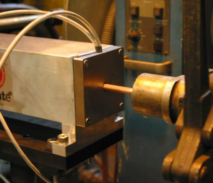 Full volumetric inspection of rods. Detects longitudinal defects & inclusions.