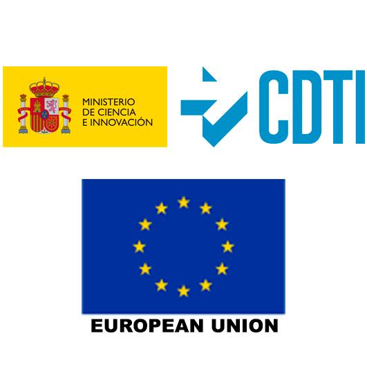 Spanish CDTI and European Union logos
