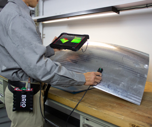 Eddy Current Array portable instrument called BRIO in action