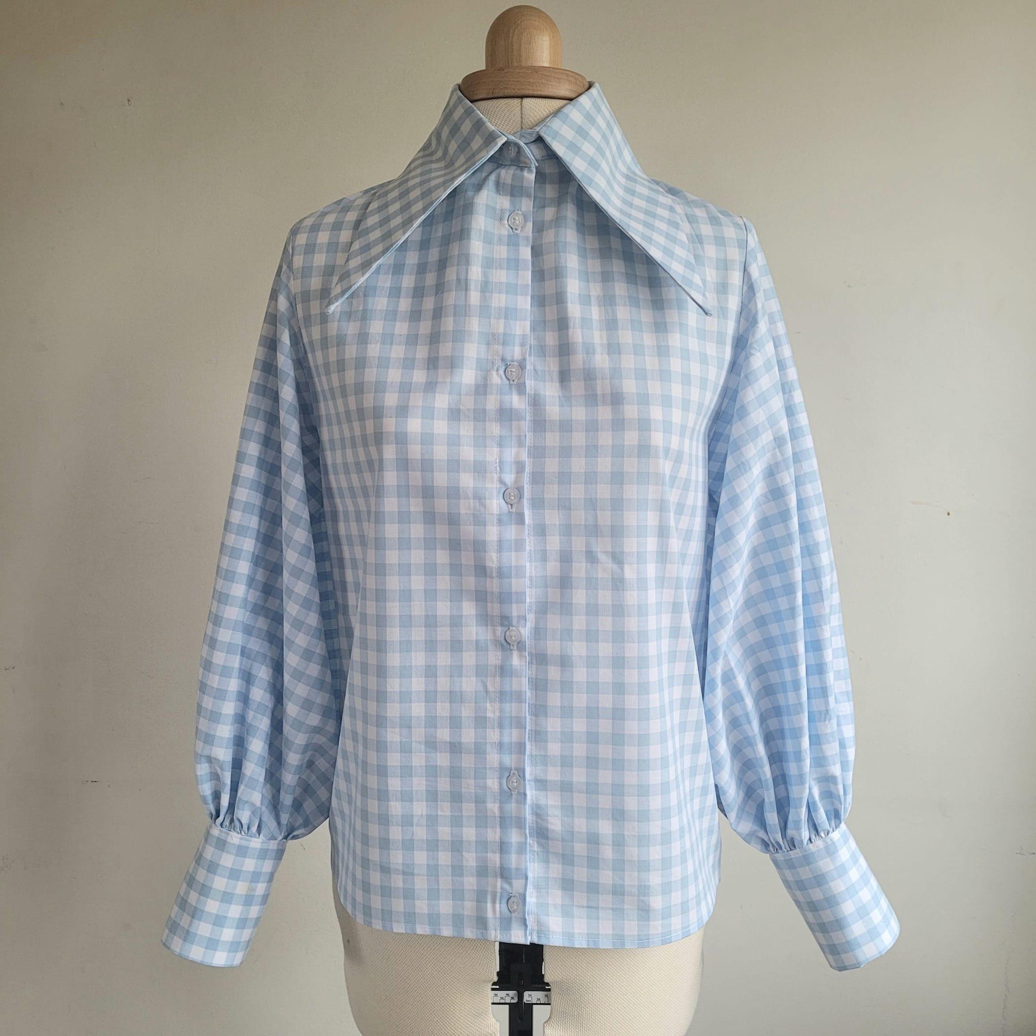 Dagger collar blouse