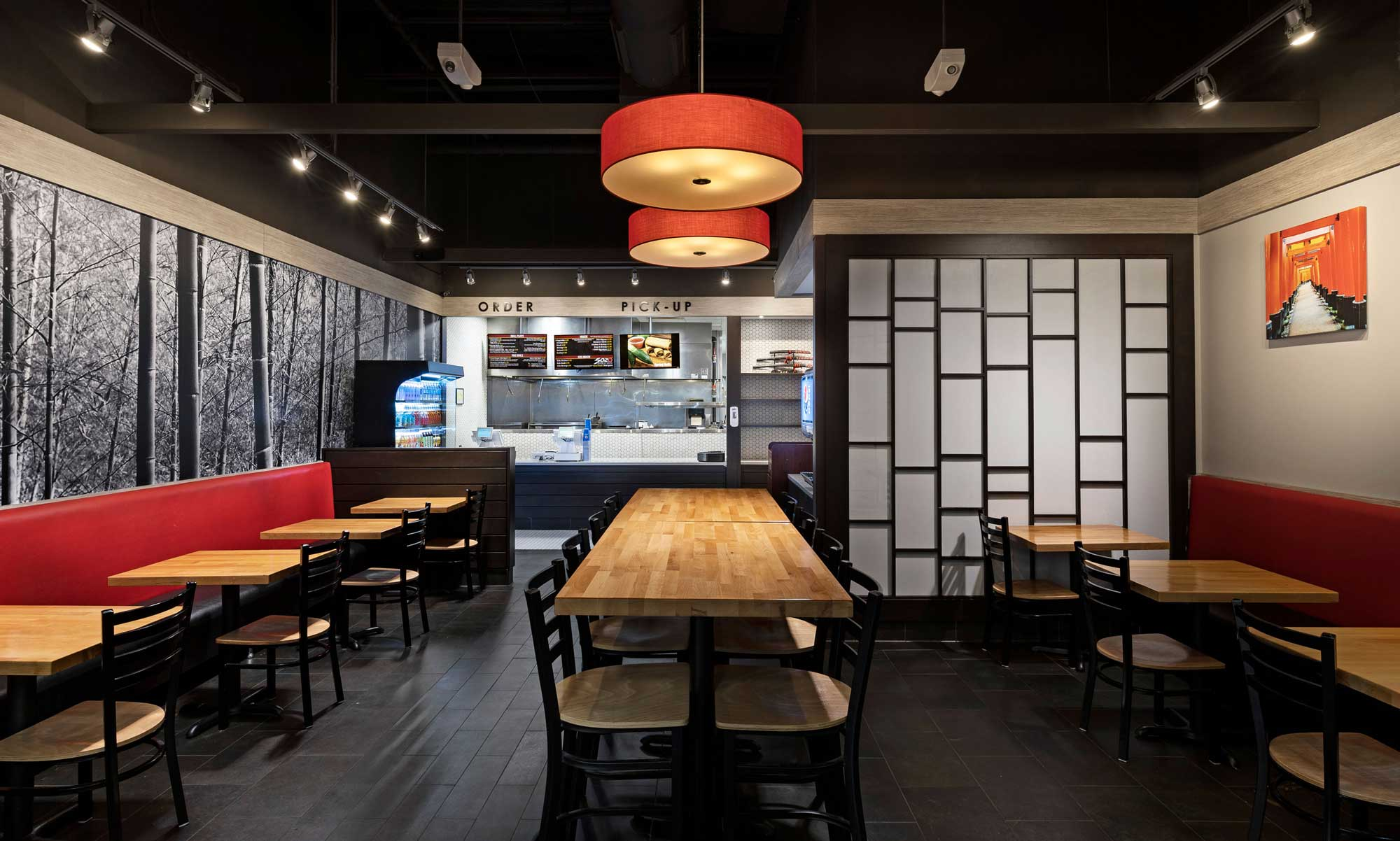 SOZO Japanese Grill dining room and order counter