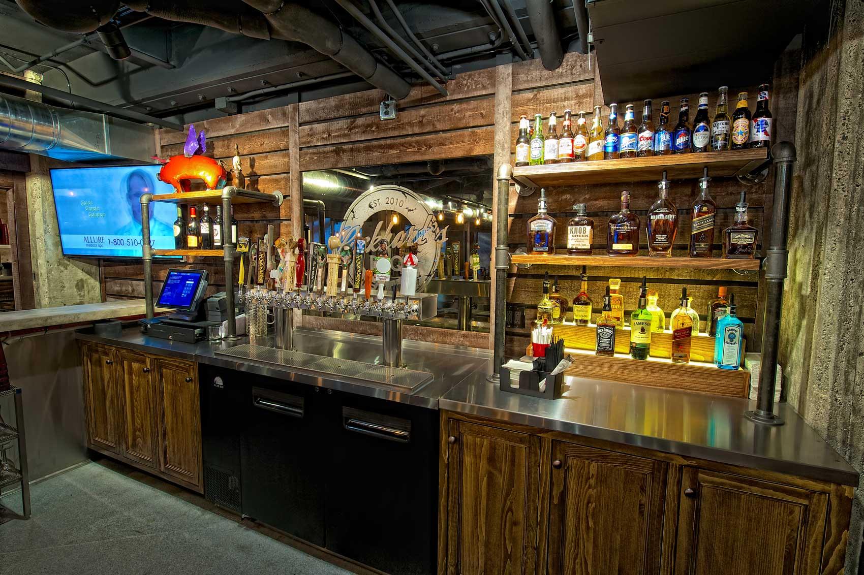Lockhart's BBQ behind the bar details