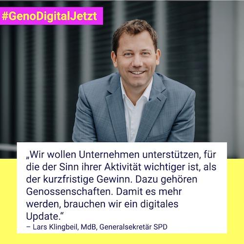 Lars Klingbeil  #GenoDigitalJetzt