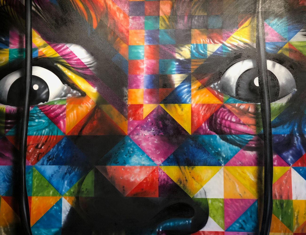 Mosaic art of woman's eyes