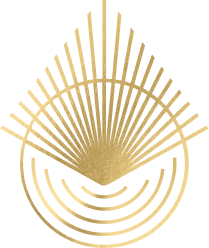Kuya logo with gold foil effect.