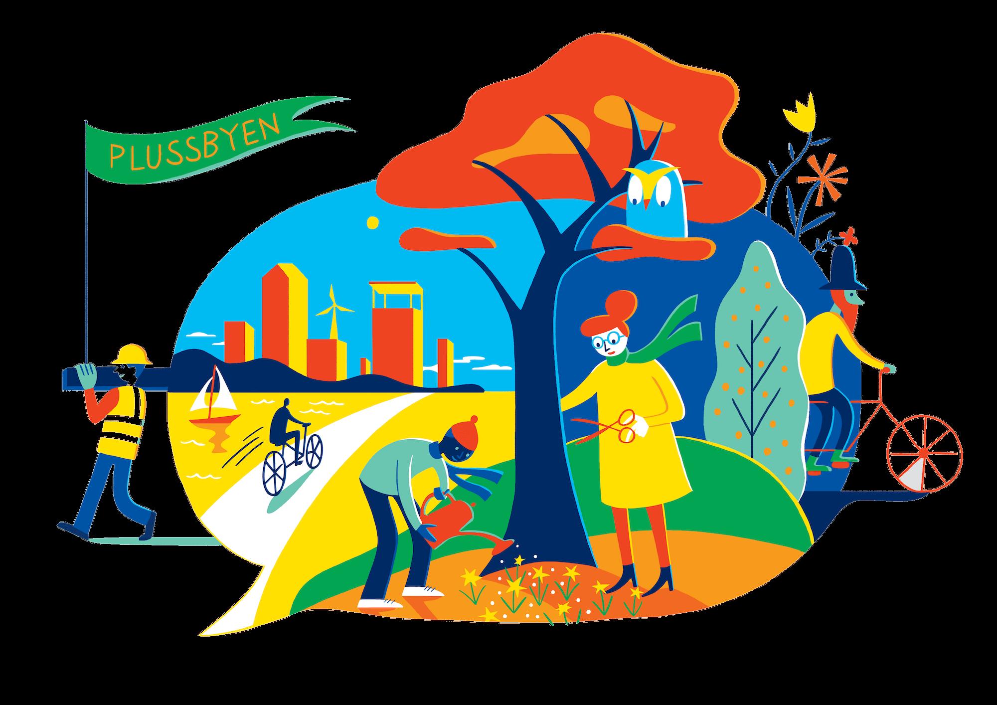 Illustration of a collaborative city