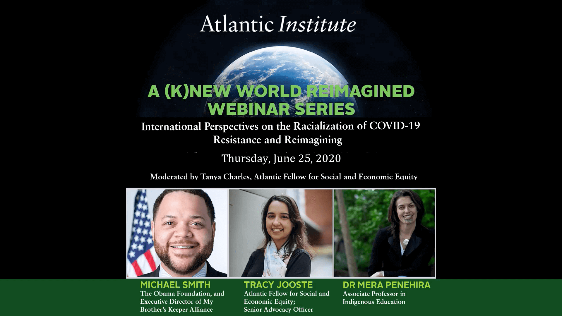 International Perspectives on the Racialization of COVID-19: Resistance and Reimagining: Webinar 2020