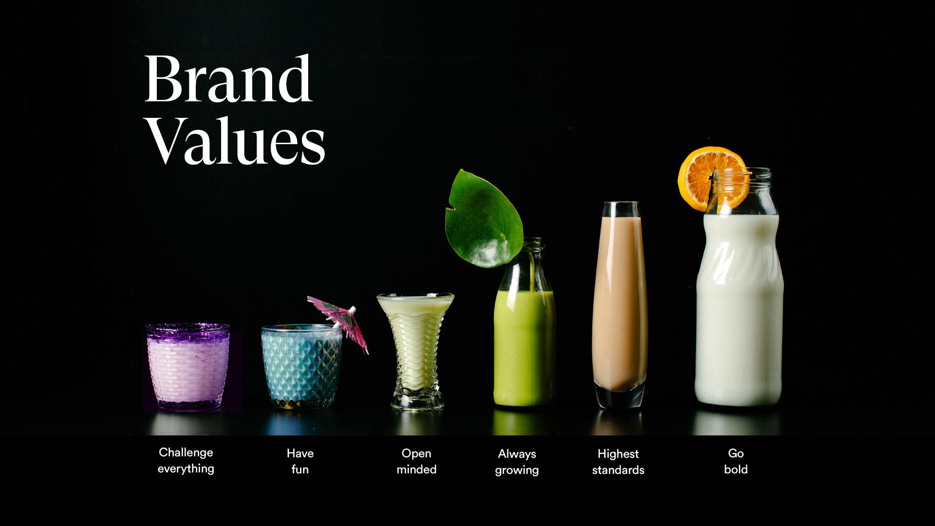 Milkman Brand Values Infographic