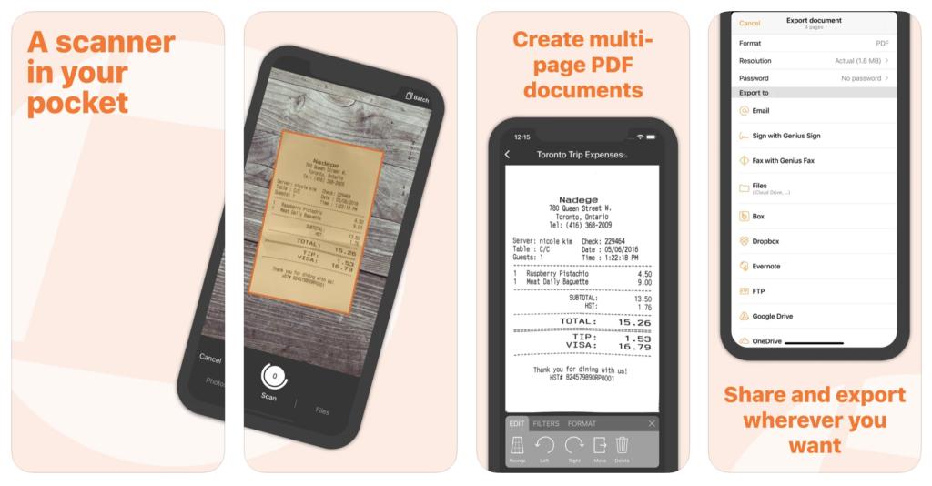 Features of the Genius Scan App
