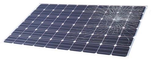 Le bris de glace sur un panneau solaire est pris en charge par votre assurance habitation
