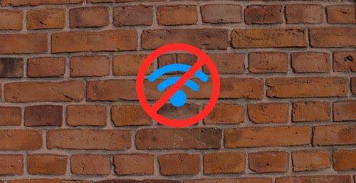 Des murs trop épais bloquent le wifi.