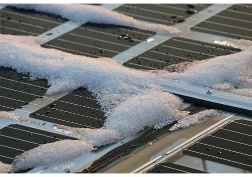 L'entreiten des panneaux solaires est très minime.