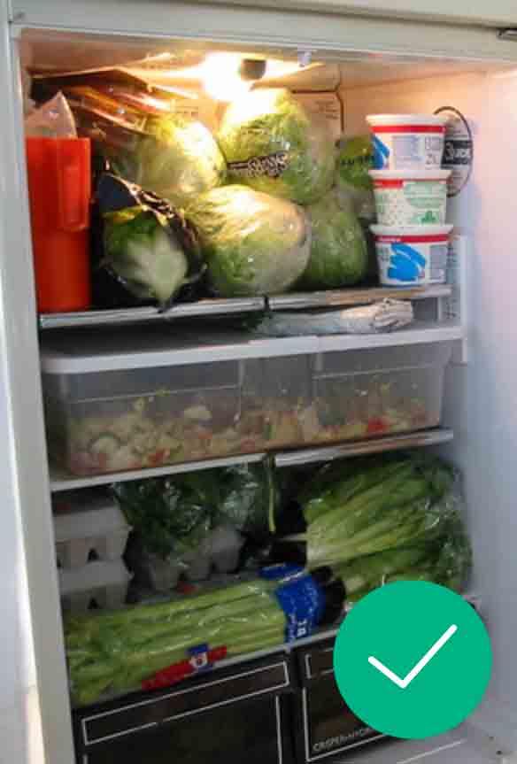 Gardez vos frigos et congélateurs pleins pour réaliser des économies d'énergie