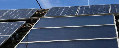 Les panneaux solaires permettent de faire des économies sur le chauffage.