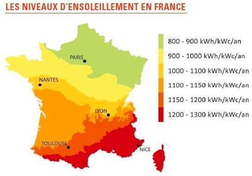 La production d'un panneau solaire influe sur la rentabilité.