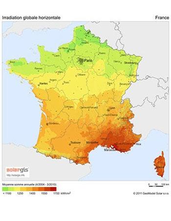 Découvrez le taux d'ensoleillement en France