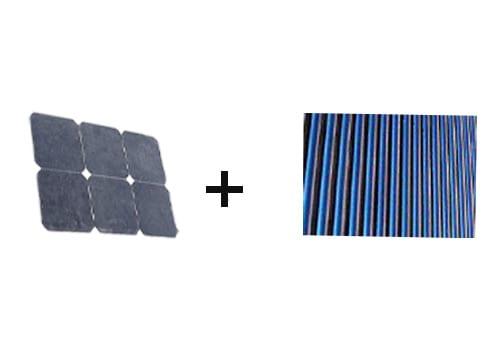 Le panneau solaire hybride est composé de cellules photovoltaïques
