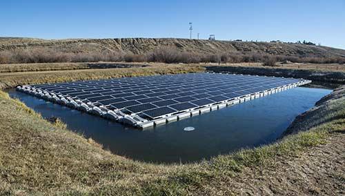 Découvrez les panneaux solaires flottants