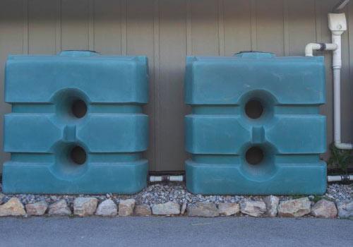 Pour être autonome en eau, il faut installer des récupérateurs d'eau