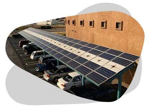 L'ombrière photovoltaïque vous permet de produire de l'électricité tout en protégeant vos voitures.