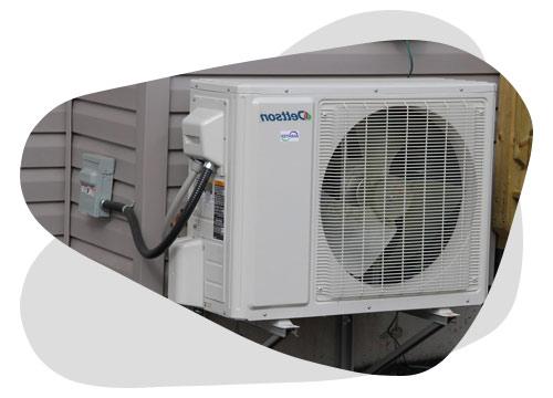 Avec un pompe a chaleur réversible, vous pouvez gérer la température de votre logement.