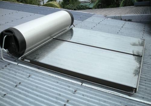Votre stockage d'eau est placé directement au dessus des capteurs solaires