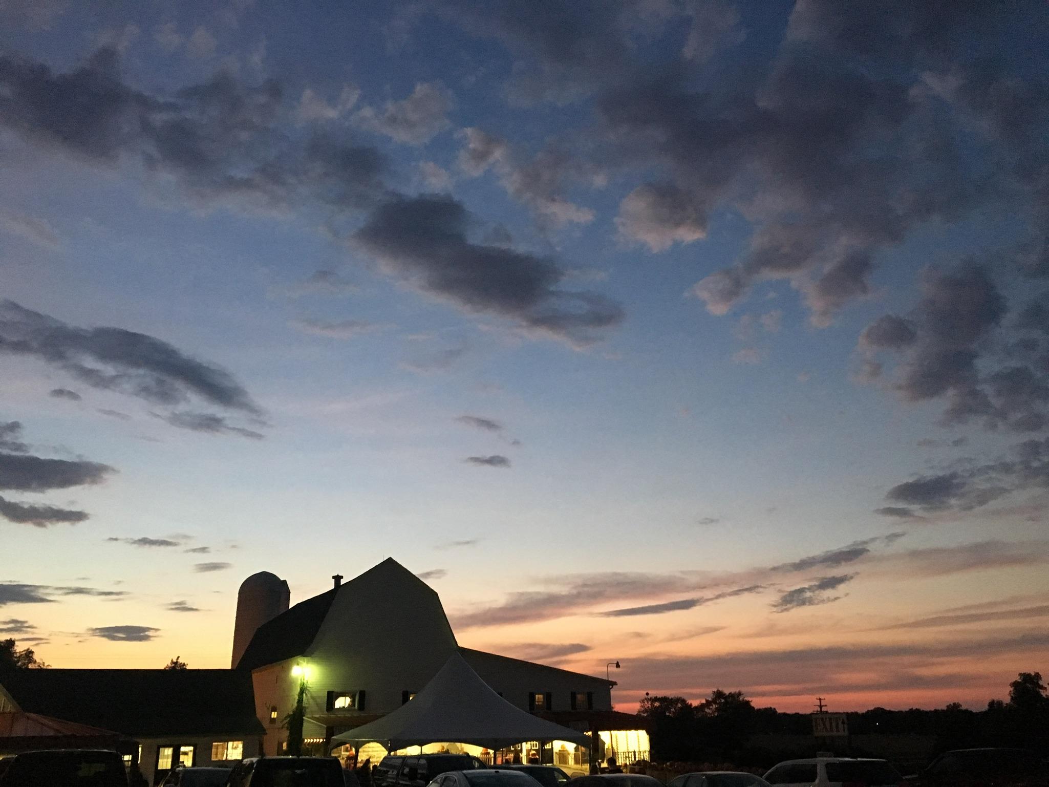 Uncle John's Barn At Night