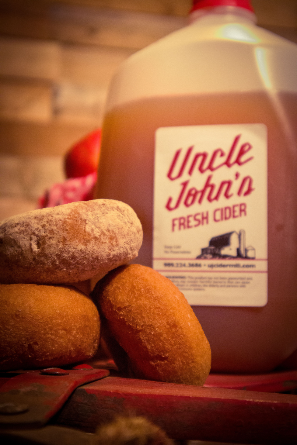 Uncle John's Cider Mill Fresh Cider with Donuts