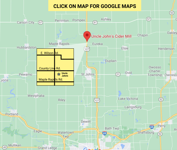 Uncle John's Cider Mill Map