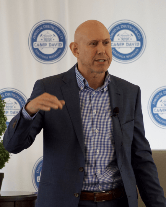Andrew Mellen speaking at Camp David 2019