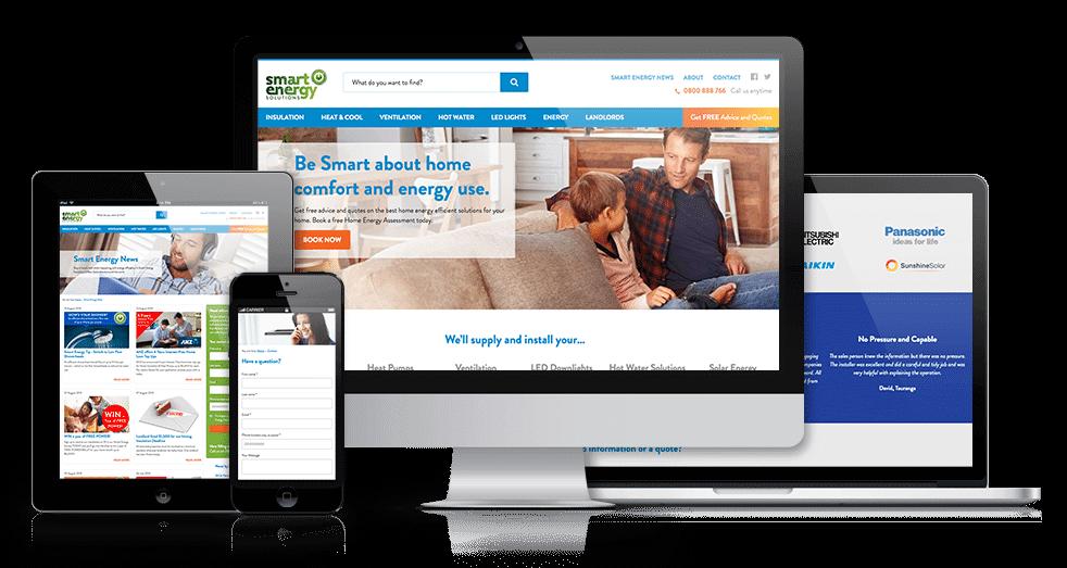 website design for SES focused on CRO