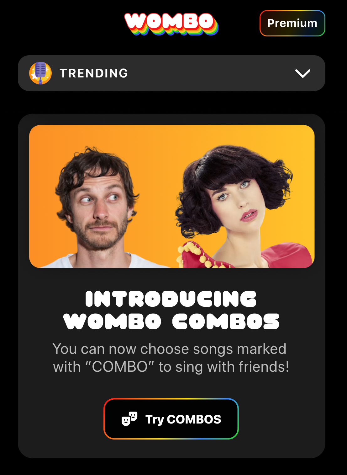 Introducing WOMBO COMBOs